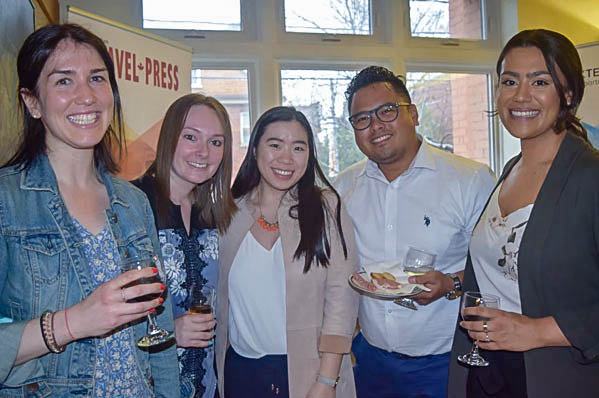 310 Dupont was buzzing on May 3, 2018, as Baxter Media hosted a networking reception for participants of the Baxter Student Ambassador Program